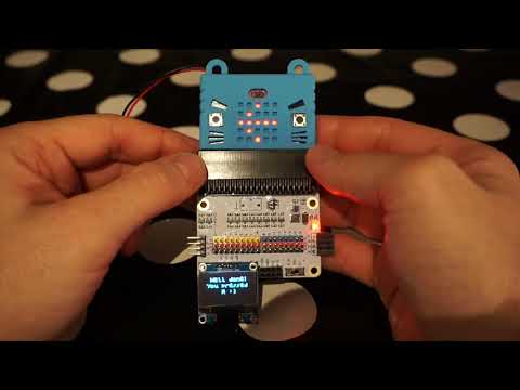 BBC micro:bit OLED display and Kitten costume