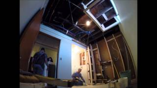 Time lapse of a laundry room remodel.