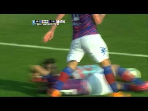 Gol de Silva. Arsenal 0 – Tigre 1. Fecha 22. Primera División 2015