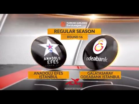 EuroLeague Highlights RS Round 16: Anadolu Efes Istanbul 84-73 Galatasaray Odeabank Istanbul