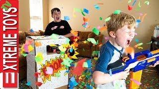 Video Sneak Attack Squad Birthday Confetti Blaster Nerf Battle! MP3, 3GP, MP4, WEBM, AVI, FLV Juli 2018