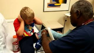 "Nothing crazy -- just my son getting his cast off and taking us all by surprise.""To use this video in a commercial player, advertising or in broadcasts, please email Viral Spiral: contact@viralspiralgroup.com"