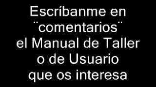 10. Descarga Manuales de Taller en PDF, Manuales de usuario en PDF