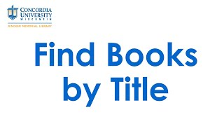 Find Books by Title