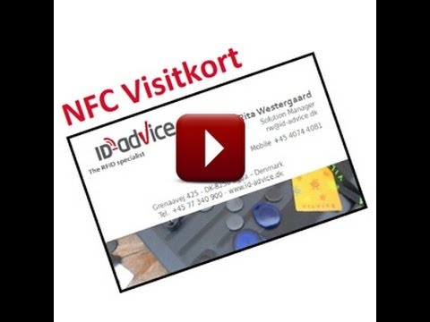 Video of NFC Visitkort- skriver Vcard