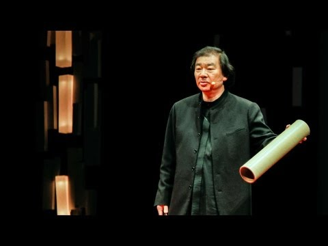Emergency shelters made from paper by Shigeru Ban at TED