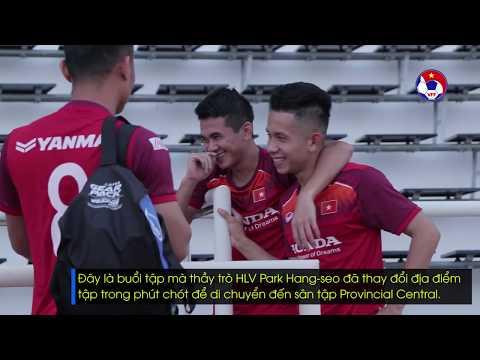 Xuân Trường, Công Phượng hội quân, ĐTVN có buổi tập đầu tiên tại Thái Lan trước thềm King's Cup 2019 - Thời lượng: 1:50.