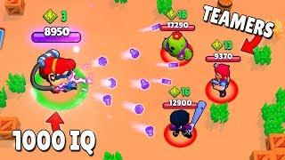 1000 IQ PRO vs -10 IQ TEAMERS! (Brawl Stars Fails & Epic Wins! #4)