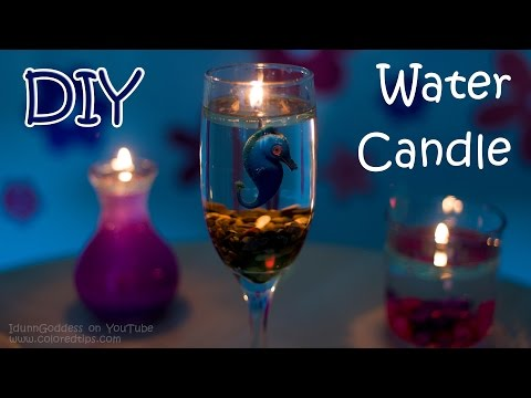 How To Make A Water Candle - DIY Burning Water Candle