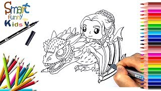 Today WE'll be showing you How to Draw and Painting Daenerys ride dragon from Game of Throne movie season 7, with color...