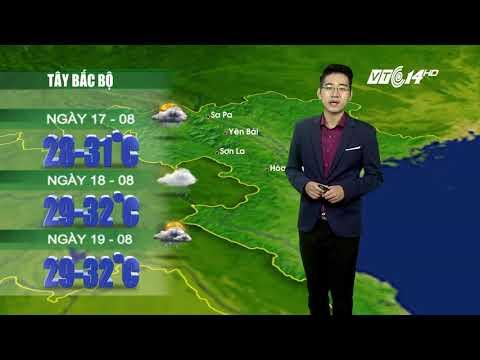 VTC14 | Thời tiết 12h ngày 16/08/2017| Dự báo thời tiết hôm nay