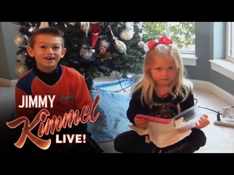 Funny Christmas Video - SUBSCRIBE to get the latest #KIMMEL: http://bit.ly/JKLSubscribe Connect with Jimmy Kimmel Live Online: Visit the Jimmy Kimmel Live WEBSITE: http://bit.ly/JKL...