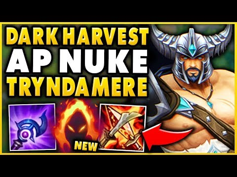 REWORKED DARK HARVEST AP ONE-SHOT TRYNDAMERE! ONE SPIN = ONE KILL! - League of Legends