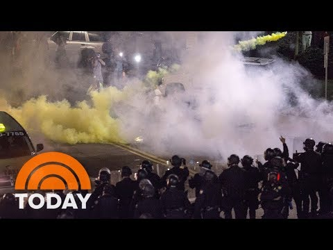 Police Use Tear Gas, Pepper Spray On Protesters Outside Donald Trump Rally | TODAY