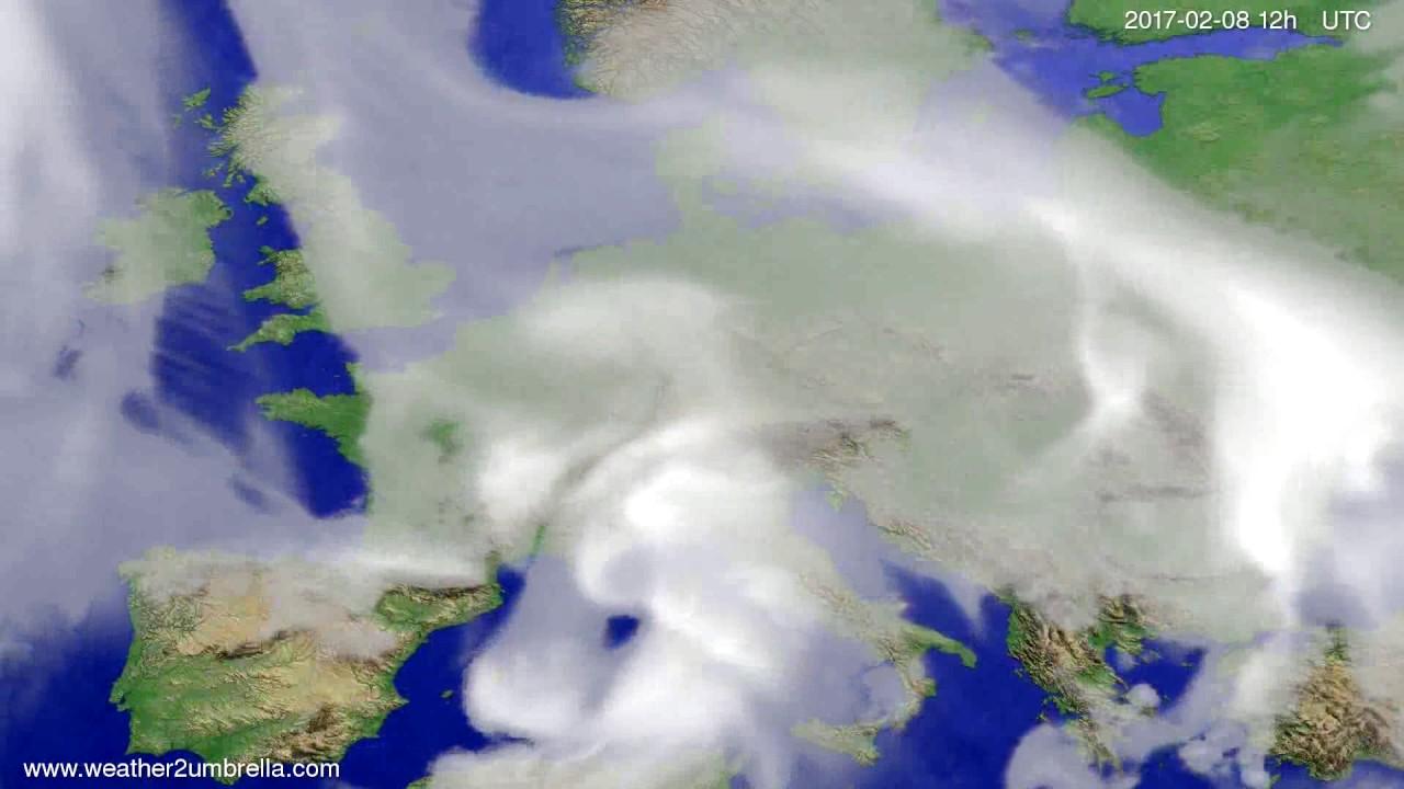 Cloud forecast Europe 2017-02-06
