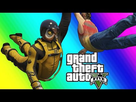 GTA 5 Online Funny Moments - Resurrection and The Michael Jordan Dive! (видео)
