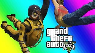 GTA 5 Online Funny Moments - Resurrection and The Michael Jordan Dive!