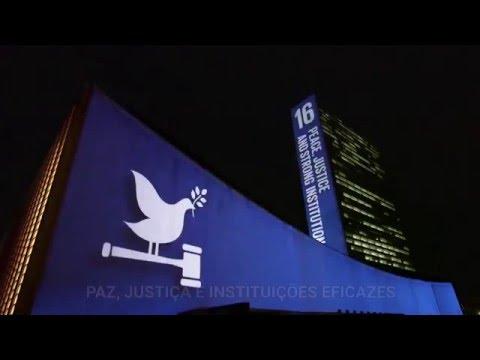 Em setembro, a sede da ONU em Nova York foi iluminada com os novos #ObjetivosGlobais