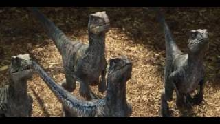 Jurassic World 2015 - Raptor Feeding Scene