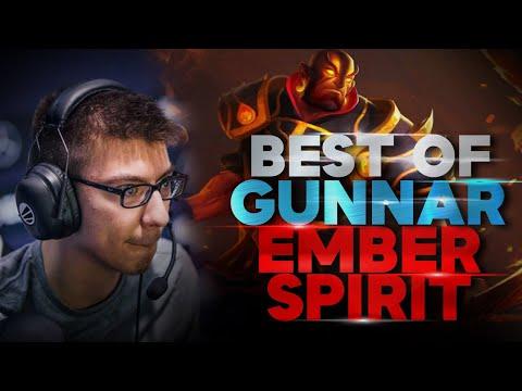 The reason why people call him ana 2.0 Gunnar Ember Spirit - BEST Highlights Dota 2