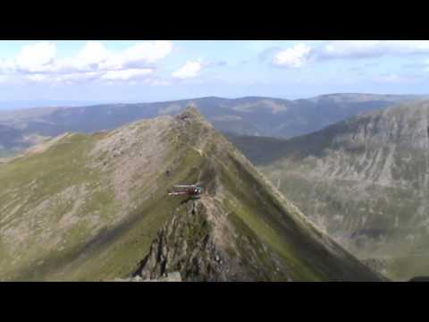 Helvellyn   Helicopter on Striding Edge | cumbria  Walks