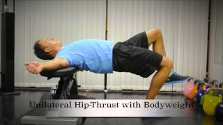 Exercise Index: Unilateral Hip-Thrust with Bodyweight