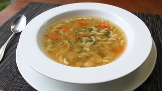 One-Step Chicken Chicken Soup - Dump and Simmer Chicken Noodle Soup for Lazy Sick People by Food Wishes