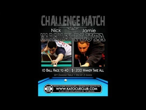 Nick Marsolek vs Jamie Pluta - 10 Ball - Race to 40 - 9ft Diamond Pro Am