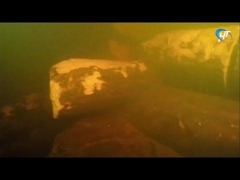 Подводные археологи нашли на дне Волхова остатки моста, который соединял берега реки еще в 10-м веке