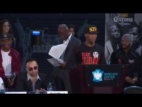 Showtime - Live from Brooklyn, Zab Judah and Paulie Malignaggi step up to the mic and SHOWTIME Sports captures every moment with a live stream of the final press confer...