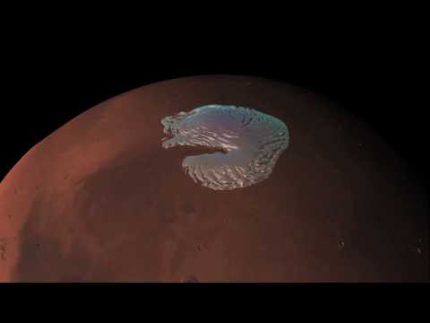 pole - Data from the Mars Advanced Radar for Subsurface and Ionospheric Sounding instrument, MARSIS. aboard ESA's Mars Express has been used to create this animatio...