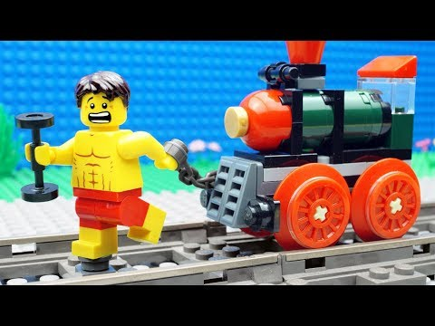 Lego Train Gym Fail - Bodybuilding