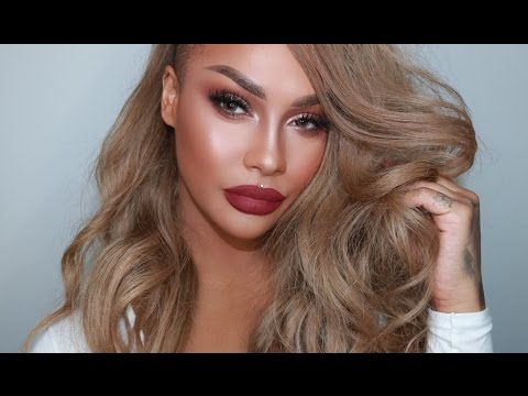 ROSE GOLD HOLIDAY GLAM MAKEUP | SONJDRADELUXE