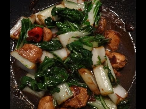 """Chinese Chicken"" with ""Bok Choy"" in ""Sweet Soy Sauce Recipe"" ""China Food Recipes"""