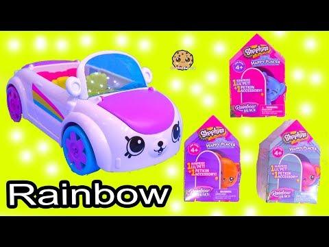 Rainbow Beach Petkinz Car ! Happy Places Shopkins Surprise Blind Bags