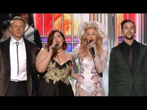 Grammy Rehearsal: Macklemore & Ryan Lewis, Madonna, Mary Lambert – Same Love, Open Your Heart