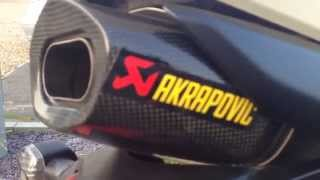 10. *HD* 08 Honda CBR 600RR - Akrapovic slip on muffler without noise baffle High Definition
