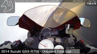 10. 2014 Suzuki GSX-R750 Onboard - 2014 L-H Shootout Lap - MotoUSA