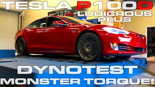 Tesla Model S P100D Ludicrous Plus Dyno Testing on a Mustang Dyno by DragTimes