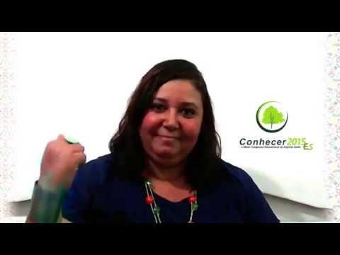 Cintia Barreto o convida a participar do Congresso Conhecer ES 2015, nos dias 18 a 20 de setembro em Aracruz