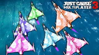 » I had the opportunity to try out the upcoming multiplayer mod for Just Cause 3 with a few members of the community. These are some of the best moments from our group session.Huge thanks to the amazingly talented Nanos team for giving me a chance to play-test their mod as well as to everyone who participated in the session together!» Follow the development of the mod at the official website and social media accounts:• Official Website: https://just-cause.mp• Twitter: https://twitter.com/justcause3_mp• Facebook: https://www.facebook.com/justcause3mp--------------------------------------------------------------------------------------------------------------» Don't forget to like the video and subscribe to the channel for more epic stunts, funny moments and other adventures in Just Cause 3 Multiplayer. Thank you for your support!» Follow my social media sites and groups to stay in touch with me and be first to know when a new video or an open lobby is happening:• Twitter: http://goo.gl/UtHDTq• Facebook: http://goo.gl/kOeFUu• Steam: http://goo.gl/z4NVay