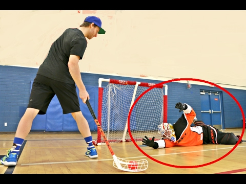 PAVEL BARBER VS. KANE VAN GATE [Floorball+ Shootout Challenge]