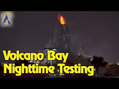 Volcano Bay Krakatau Effects Testing, Likely for Grand Opening Event at Universal Orlando