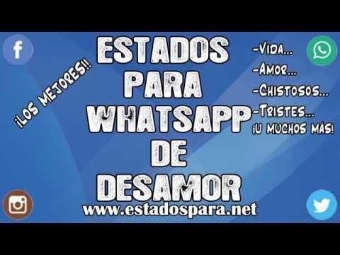 Status bonitos para Whatsapp - Estados para whatsapp de desamor  ¡FRASES MEGA LINDAS PARA TI!