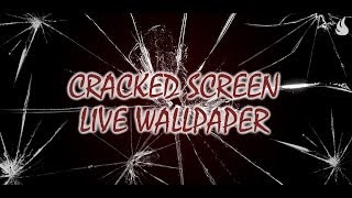 Cracked Screen Live Wallpaper YouTube video