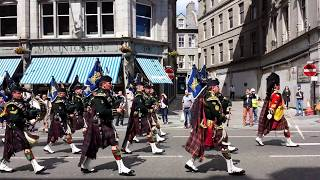 Homecoming Parade Of The 4 Scots Battalion  1st July 2014  Aberdeen