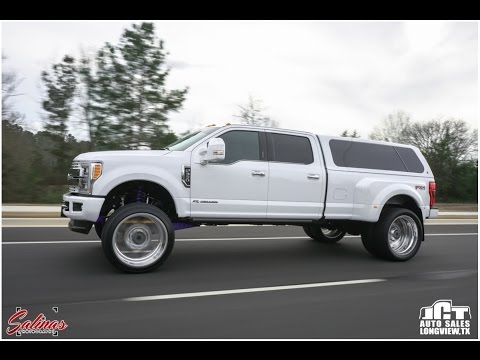 ANOTHER 2017 F350 Dually on a BIG wheel/tire set up with a camper shell!