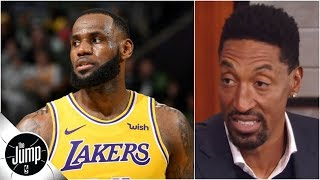 Scottie Pippen questions LeBron James' effort at end of Lakers vs. Celtics | The Jump