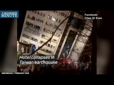 A 6.4 magnitude earthquake hit near the Taiwan city of Hualien, trapping people under rubble