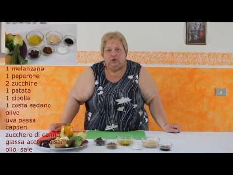 caponata di verdure - ricetta